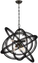 Eurofase Orbita Collection 6-Light Bronze Chandelier with Vintage Bronze Shade
