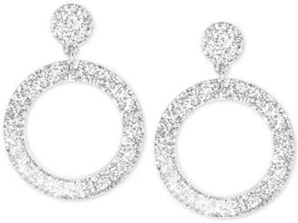 Zenzii Glitter Resin Drop Hoop Earrings