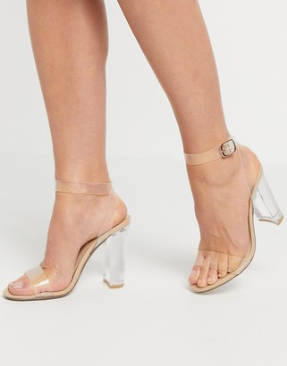Steve Madden Camille clear block heel sandal