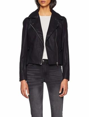 Lost Ink Women's Volume Sleeve Pu Jacket Coat
