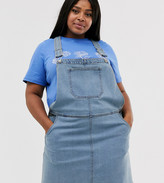 Brave Soul Plus dungaree dress with pockets