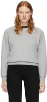 MAISON KITSUNÉ Grey Tricolor Fox Sweatshirt