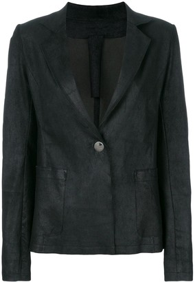 Vanderwilt Fitted Leather Blazer