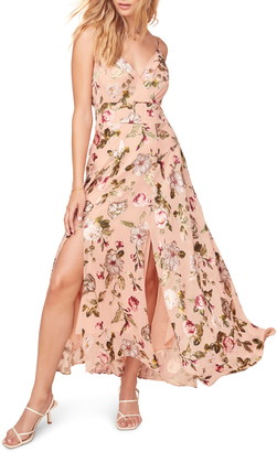 ASTR the Label Floral Print Sleeveless Maxi Dress