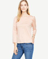 Ann Taylor Puff Sleeve Top