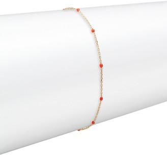 Saks Fifth Avenue Made In Italy 14K Yellow Gold Enamel Chain Bracelet