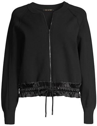 Kobi Halperin Zeina Zip-Up Ruched-Hem Sweater