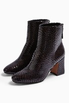 Topshop Womens Belize Burgundy Smart Boots - Burgundy