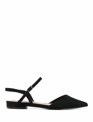 Forever New Priya Pointed Flat Shoes - Black - 37