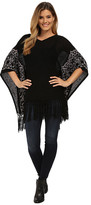 Miraclebody Jeans Felicity Fringed Sweater Top w/ Body-Shaping Inner Shell