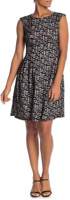 Gabby Skye Cap Sleeve Lace Knit Dress