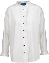 MiH Jeans Laing ruffled cotton-poplin shirt