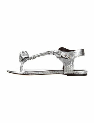 Isabel Marant Jarely Thong Sandals Silver