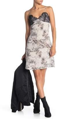 AllSaints Ives Tyde Lace Trim Silk Cami Dress