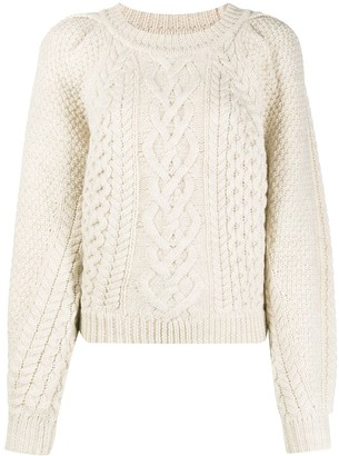 Etoile Isabel Marant Cable-Knit Crew Neck Jumper