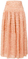 Chloé ruffle lace midi skirt