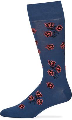 Paul Smith Men's Petunia Floral Socks