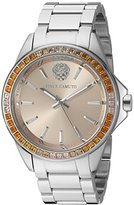 Vince Camuto Women's VC/5289LPSV Swarovski Crystal Accented Silver-Tone Bracelet Watch