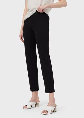 Emporio Armani Elasticated Milano Stitch Trousers