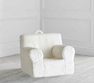 Pottery Barn Kids My First Ivory Faux-Fur Anywhere Chair Slipcover Only