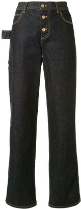 Bottega Veneta High-Waisted Straight-Leg Jeans