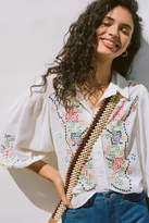 Anthropologie Perry Embroidered Buttondown