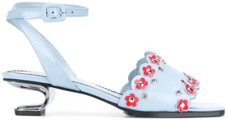 Nicole Saldaña Amanda floral embroidered sandals