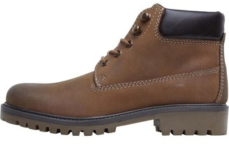 Onfire Womens Leather Cleat Sole Boots Coffee