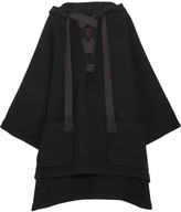 Chloé Iconic Hooded Wool-blend Cape - Black