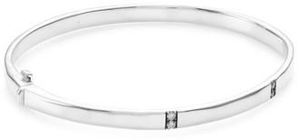 Ippolita Stardust Small Sterling Silver & Diamond Station Hinged Bracelet