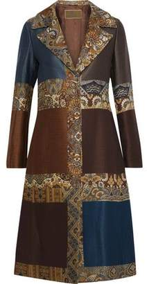 Etro Patchwork Jacquard And Matelasse Coat