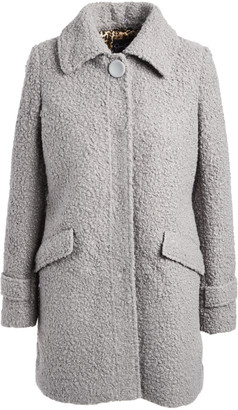 Jessica Simpson Collection Women's Car Coats ICE - Ice Gray Boucle Faux Fur Collar Coat - Women