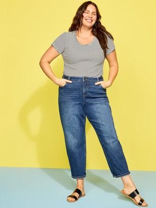 Old Navy Extra High-Waisted Secret-Slim Pockets Boyfriend Straight Plus-Size Jeans