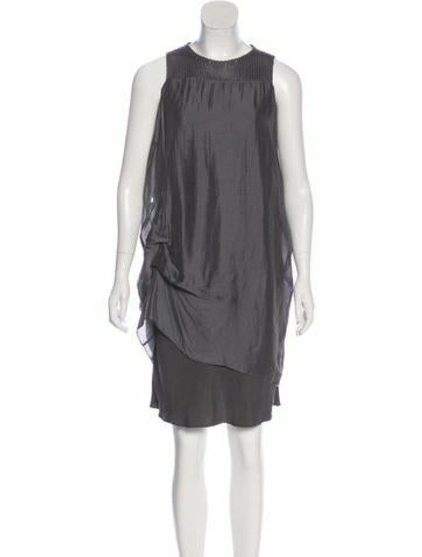 Brunello Cucinelli Silk Sleeveless Dress