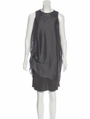 Brunello Cucinelli Silk Sleeveless Dress