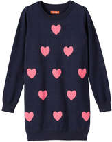 Joe Fresh Kid Girls' Heart Print Sweater Dress, Navy (Size XL)