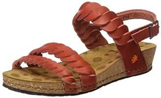 Art Women's 0733 Mojave Pompei Sandals with Platform, Red (Granada)