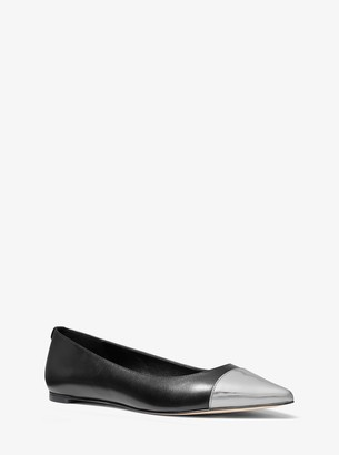 MICHAEL Michael Kors Mila Leather Pointed-Toe Flat