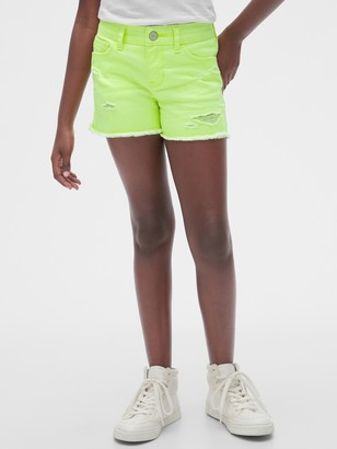 Gap Kids Destructed Denim Shortie Shorts