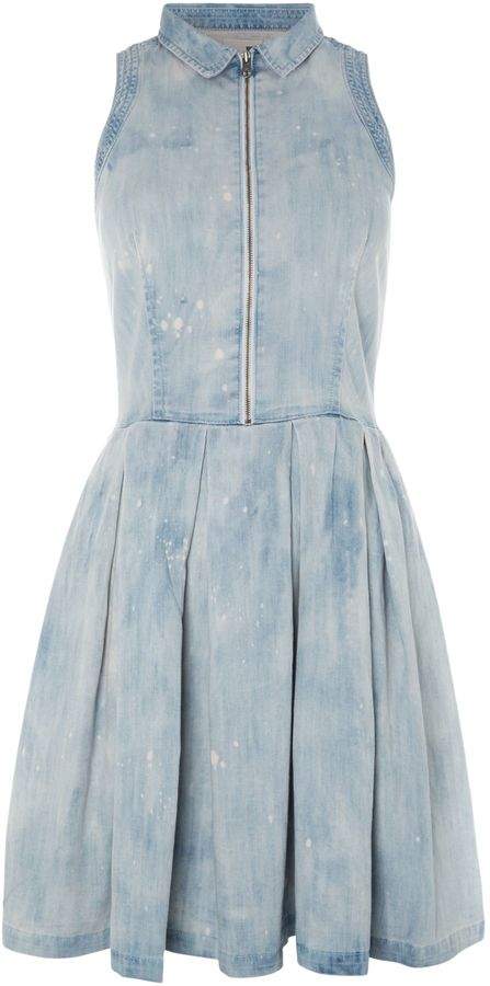 Levi's Sleeveless denim dress with collar