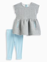 Splendid Baby Girl Quilt Knit Dress Set