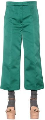 Rochas Cropped Duchesse Pants