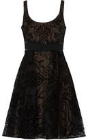 Marchesa Flocked Silk-Tulle Dress