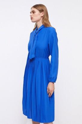 Coast Tie Neck Pleat Shirt Dress