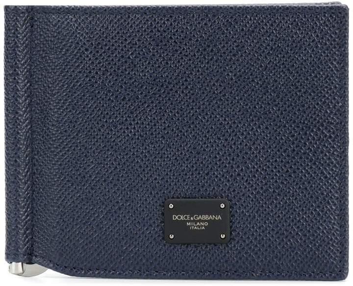 Dolce & Gabbana logo plaque folded cardholder