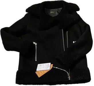 Maje Black Shearling Coats