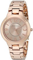 Anne Klein Women's AK/1450RGRG Rose Gold Tone Bracelet Watch