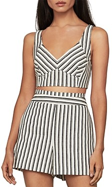 BCBGMAXAZRIA Striped Bralette Top