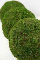 6 Pieces of Moss Balls Natural 6in. Covered in Natural Sheet Moss & Measure 6in. in Diameter. Great For A Garden Party