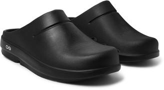 TAKAHIROMIYASHITA TheSoloist. + Oofus Oocloog Logo-Print Foam Sandals